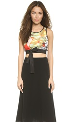 Clover Canyon Falling Leaves Crop Top Multi