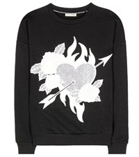 Each X Other Embroidered Cotton Sweater Black