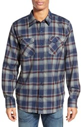 Men's Hurley 'Bailey' Dri Fit Plaid Woven Shirt Obsidian Blue