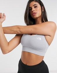 The North Face Bounce B Gone Crop Top In Gray