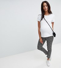 New Look Maternity Printed Tassel Jogger Black Pattern