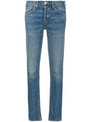 Re Done Low Rise Skinny Stretch Jeans Women Cotton Spandex Elastane 27 Blue