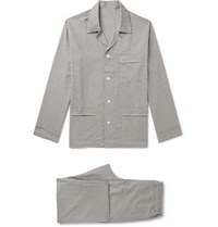 Anderson And Sheppard Gingham Brushed Cotton Pyjama Set Gray