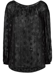 Saint Laurent Star Pattern Gypsy Blouse Black