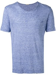 Massimo Alba Pocket Detail T Shirt Blue