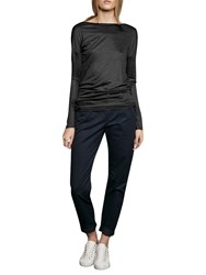 French Connection Miro Mercerised Jersey Top Black