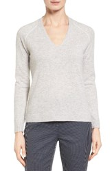 Nordstrom Women's Collection Contrast Seam Cashmere Pullover