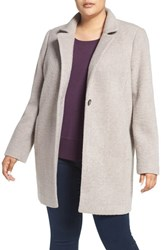 Kenneth Cole Plus Size Women's New York Ribbed Coat