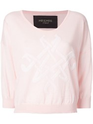 Mr And Mrs Italy Logo Knit Sweater Pink