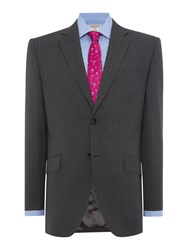 Howick Men's Tailored Alton Puppytooth Suit Jacket Grey
