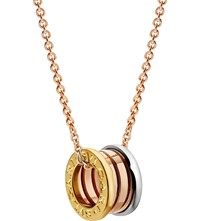 Bulgari B.Zero1 18Kt Pink White And Yellow Gold Necklace