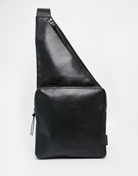 Monki Leather Look One Shoulder Backpack Black