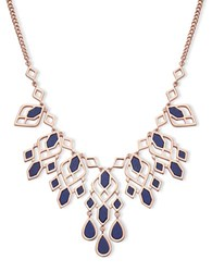 Ivanka Trump Rivington Drama Reconstituted Stone Frontal Necklace Blue