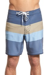 Men's Rhythm 'The Julian' Stripe Board Shorts Indigo