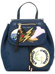 Marc Jacobs Badge Patch Backpack Blue