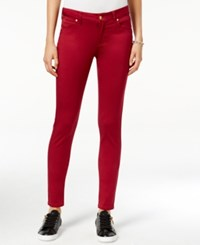 Celebrity Pink Body Sculpt By Juniors' Lifter Skinny Jeans Rumba Red
