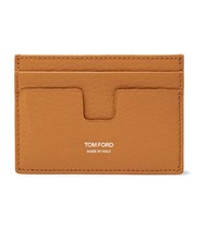 Tom Ford Full Grain Leather Cardholder Orange