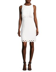 Shoshanna Solid Popover Cropped Dress Optic White