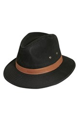 Men's Dorfman Pacific Safari Fedora Black