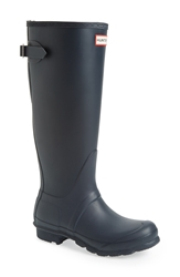 Hunter Adjustable Back Boot Women Navy Matte