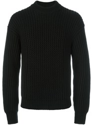 Jil Sander Ribbed Jumper Black
