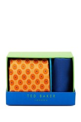 Ted Baker Chloe Medallion Silk Tie And Handkerchief