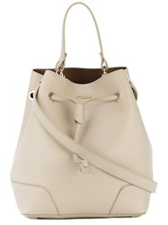 Furla Stacy Drawstring Tote Women Calf Leather One Size Nude Neutrals