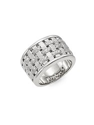Effy Diamond And Sterling Silver Woven Ring
