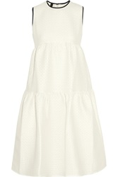 Mother Of Pearl Gudwin Tiered Cloque Dress White