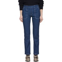 Chloe Blue Contrast Stitch Jeans
