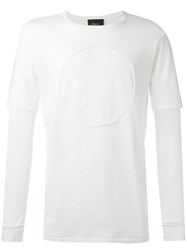 3.1 Phillip Lim Long Sleeve Circle T Shirt White