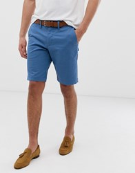 Ted Baker Chino Short In Blue Blue