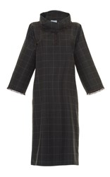 Luisa Beccaria Plaid Midi Dress
