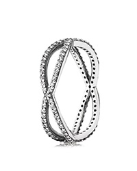 Pandora Design Pandora Ring Sterling Silver And Cubic Zirconia Crossing Paths