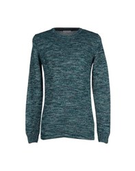 Selected Homme Knitwear Jumpers Men Emerald Green