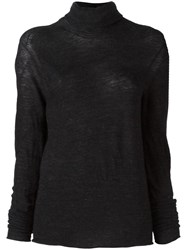 Lost And Found Ria Dunn High Neck Jumper Black