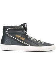 Golden Goose Deluxe Brand 'Slide' Hi Top Sneakers Black