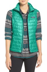 Patagonia Women's 'Nano Puff' Insulated Vest Galah Green