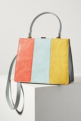 Anthropologie Ida Striped Tote Bright Red