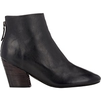 Back Zip Ankle Boots Black