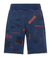 Billionaire Boys Club Headline Sweat Shorts Blue