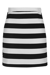 Topshop Tall Bold Stripe Mini Skirt Monochrome