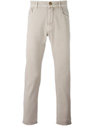 Jacob Cohen Slim Fit Trousers Nude And Neutrals