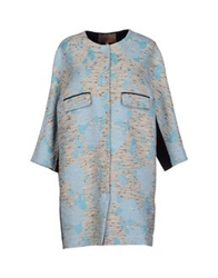 Space Style Concept Full Length Jackets Sky Blue