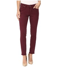 Jag Jeans Penelope Slim Ankle Supra Colored Denim In Elderberry Elderberry Women's