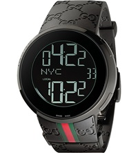 Ya114207 I Gucci Collection Rubber Watch Black Pvd