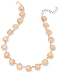 Charter Club Rose Gold Tone Pink Stone Necklace Only At Macy's