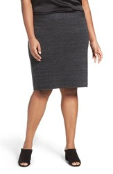 Eileen Fisher Plus Size Women's Sleek Tencel Blend Interlock Knit Skirt