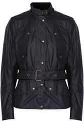 Belstaff Trackmaster Icon Cotton Shell Hooded Jacket Midnight Blue