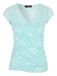 Jane Norman Lace Wrap Style T Shirt Mint